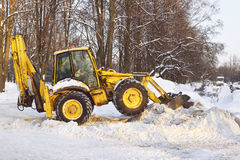 Snow tractor Royalty Free Stock Photos