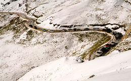 Snow traffic jam Stock Image