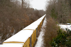 Snow Train Stock Image