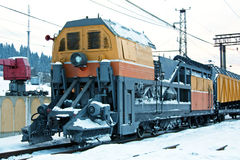 Snow train royalty free stock photo