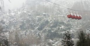 Snow Tram Stock Photo