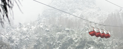 Snow Tram Royalty Free Stock Photo