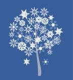 Snow tree royalty free illustration