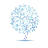 Snow tree Stock Photography