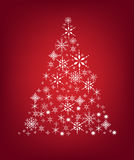 Snow tree. Illustration of a christmas tree made up of snow flakes royalty free illustration