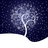 Snow tree illustration Stock Photography