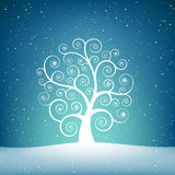 The snow tree Royalty Free Stock Photo