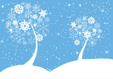 Snow trees Royalty Free Stock Images