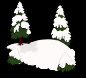 Snow Trees Background. Pine Trees covered in snow on a snowy hill. Jpeg has work path Stock Images