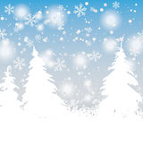 Snow Trees Christmas Background Royalty Free Stock Photography