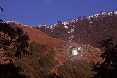 Snow Trekking Routes Via Triund, Kangra, India Stock Images