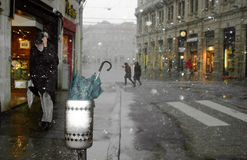 Snow in Trieste Royalty Free Stock Photo
