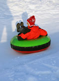 Snow tubing Royalty Free Stock Photos