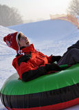 Snow tubing Stock Photos