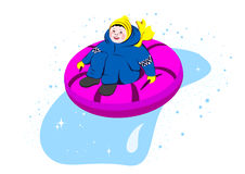 Snow-tubing Stock Photography