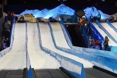 Snow tubing Royalty Free Stock Photos