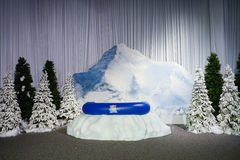 Snow tubing decoration Royalty Free Stock Photo