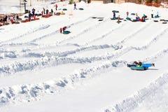 Snow tubing, Windham Mountain Ski Stock Images
