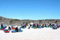 Snow tubing, Windham Mountain Ski Stock Photography