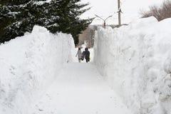 Snow tunnel Stock Image