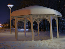 Snow turret. A snow turret in the park stock images