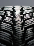 Snow tyre stock photography
