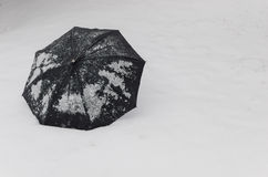 Snow, umbrella Royalty Free Stock Image