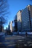Snow on Union square park Stock Image
