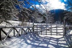 Snow. Uno scorcio di paesaggio della Toscana con la neve Royalty Free Stock Photo