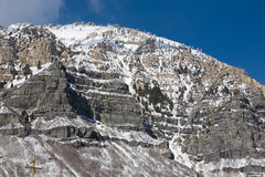 Snow on Utah Mountain Royalty Free Stock Images