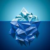 Snow vector iceberg mountain in polygonal style Royalty Free Stock Photo
