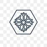 Snow vector icon isolated on transparent background, linear Snow