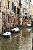 Snow in Venice Royalty Free Stock Photos