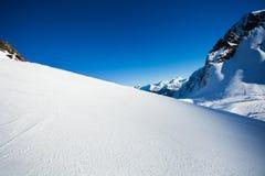 Snow view and Caucasus mountains, Sochi ski resort Stock Image