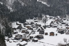 Snow view in Shirakawago, Nagoya in Winter Royalty Free Stock Image