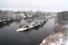 Snow village Stock Photography