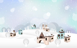 Snow village B Royalty Free Stock Images