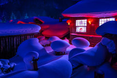 Snow Village Royalty Free Stock Photography