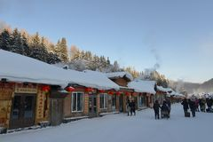 Snow Village in Heilongjiang Royalty Free Stock Image
