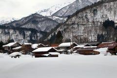 Snow village Royalty Free Stock Photos