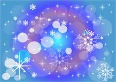 snow vinter för vektor för snowflakes för blommor för abstraktionbakgrundsblue Bakgrund vektor Royaltyfri Foto