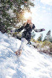 Snow walk Royalty Free Stock Image