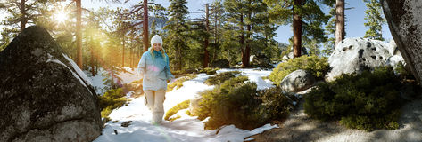 Snow walk Royalty Free Stock Images