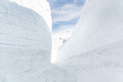 Snow wall at the Tateyama Kurobe Alpine Route Stock Image