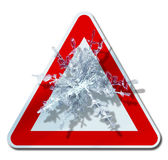 Snow warning sign Stock Images