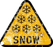 Snow warning Stock Photography