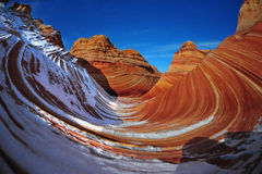 Snow at the Wave, Arizona Royalty Free Stock Images