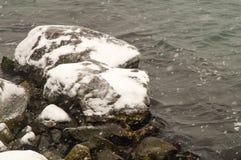Snow waves of the Black Sea in Pomorie, Bulgaria Stock Image
