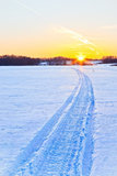 Snow way to the sun Stock Image