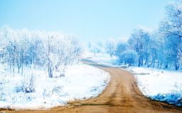 Snow way-wide Stock Photography